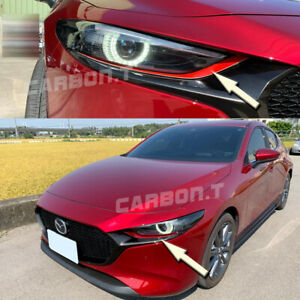 Front Headlight Eyelids Eyebrow Cover 2019 For Mazda 3 4th Bp Paint Your Color