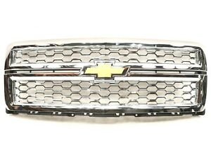 New Oem Gm Chrome Mesh Grille Assembly 22757225 Chevy Silverado 1500 2014 2015