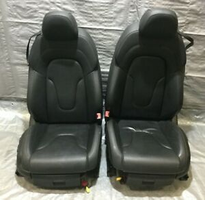 2008 2010 Audi Tt Convertible Black Nappa Leather Front Seats Pair T2004