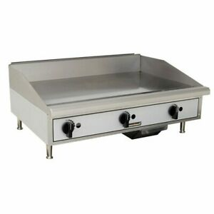 Toastmaster Tmgm36 36 Manual Gas Griddle W 3 4 Plate 60 000 Btu