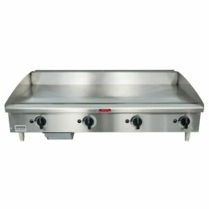 Toastmaster Tmgm48 48 Manual Gas Griddle W 3 4 Plate 80 000 Btu