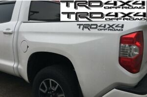 Trd 4x4 Off Road Toyota Tacoma Tundra Vinyl Bed Side Decals Stickers