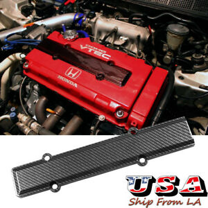 Carbon Fiber Look Valve Cover Spark Plug Insert For Honda Civic B16 B18 Vtec