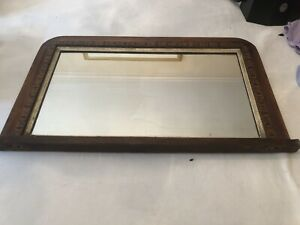 Vintage Antique Art Deco Mirror Framed Wall Frame Ornate Wood
