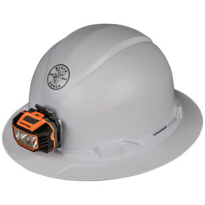 Klein Tools 60406 Hard Hat Non vented Full Brim Style With Headlamp