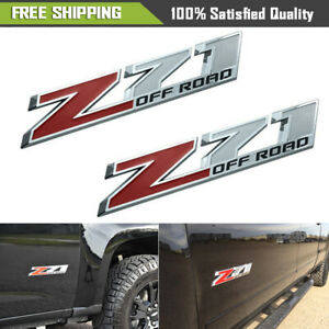 2x Oem 10 Big Z71 Off Road Emblem Badges 3d Gm Silverado Fits 2500hd Fu Red