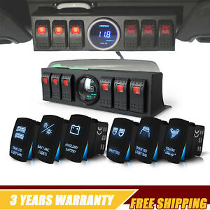 For Jeep Wrangler 6 switch Panel Digital Voltage Meter With 6 Rocker Switch