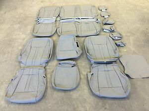 2019 2020 Ford F 150 Super Crew Xlt Katzkin Grey Gray Leather Seat Cover Covers