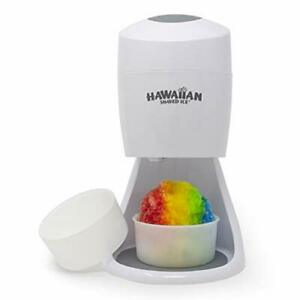 New Electric Hawaiian Shaved Ice Snow Cone Shaver Machine White