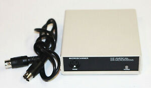 American Microsystems Bar Code Scanning System Microscanner W Scanner Cable