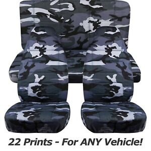 Camouflage Car Seat Covers For Any Car Truck Van Suv Jeep Full Set Front