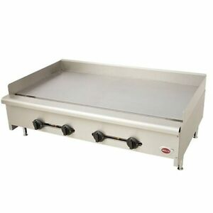 Wells Hdtg4830g 48 Commercial 4 Burner Heavy Duty Thermostatic Griddle Gas
