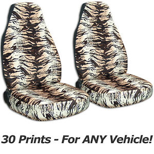 Animal Print Car Seat Covers For Any Car truck van suv jeep Front Set 30 Prints