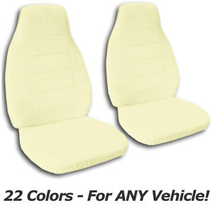 Solid Color Car Seat Covers For Any Car truck van suv jeep Front Set 22 Colors