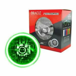 Oracle Lights 6905 004 7 Round Sealed Beam Conversion Halo Lights Green