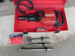 Hilti Te1000 avr Demolition Hammer Package W 3 Bits Newest Model