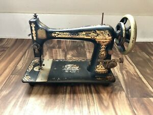 Antique Singer Sewing Machine Model 27 1902 117 Years Old Free Shipping