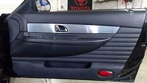 02 05 Ford Thunderbird Right Front Interior Door Panel Card Black Oxfrod White