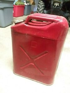 Vintage Usmc Red 5 Gal Jeep Gas Can Dot 5l 20 5 86 Us Willys Jerry can
