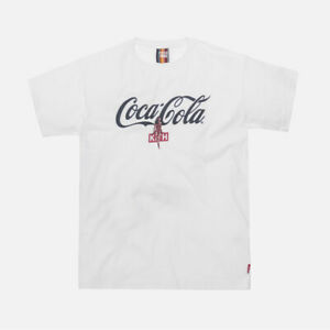 KITH SS19 COCA-COLA HULA TEE WHITE IN HAND