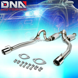 For 96 04 Mustang Gt V8 Sn95 4 rolled Tip Stainless Steel Exhaust Catback System