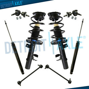8pc Front Struts Rear Shock Absorbers Sway Bar For 2012 2013 Ford Focus 2 0l
