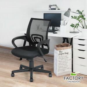 Adjustable Ergonomic Mesh Office Chair Swivel Computer Desk Task Mid back Black