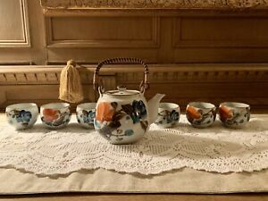 Antique Hand Painted Tea Set