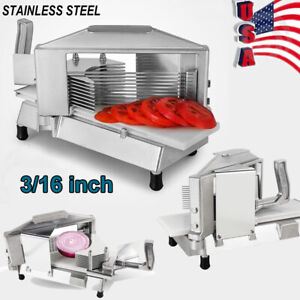 Commercial Tomato Slicer Cutter Cutting Unit With 3 16 Blade Built in Guard