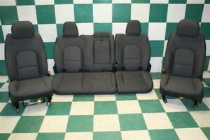 19 20 Ram 1500 Crew Black Cloth Heated Front Power Drivers Rear Bench Seats Oem
