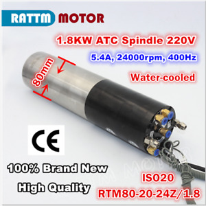 1 8kw 220v Iso20 Automatic Tool Change Atc Water Cooled Spindle Motor Cnc Mill