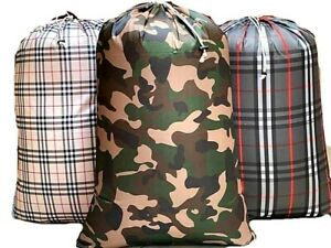 Large Washable Laundry Bag 28 X 40 Heavy Duty Hamper Drawstring Home College