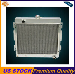 3 Row Aluminum Radiator Fit 1970 1972 Dodge Dart Plymouth Duster Valiant V8 Gas