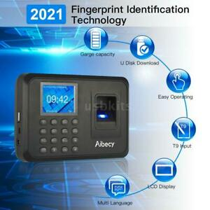 Biometric Fingerprint Checking in Attendance Machine Employee Time Clock Usa