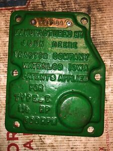 John Deere 1 1 2 Hp E Hit Miss Engine Governor Cover 299334