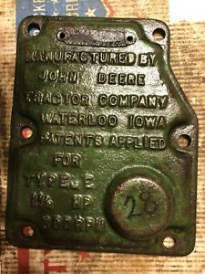 John Deere 1 1 2 Hp E Hit Miss Engine Governor Cover