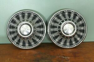 Vintage 67 68 69 70 Plymouth Valiant Barracuda Etc Hubcap Wheel Covers Pair 14