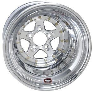 Weld Racing 88 514284 Pro Drag Alumastar 2 0 15x14 Bolt Pattern 5x4 75 In 12 7