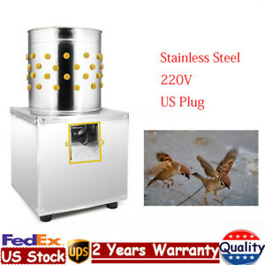 Stainless Steel Chicken Plucker Plucking Machine Poultry Duck Quail Depilator Us