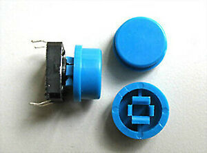 50 Pcs Tactile Push Button Switch Momentary Tact Caps