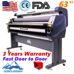 63 1600mm Full Auto Wide Format Cold Laminating Machine Heat Assisted Laminator