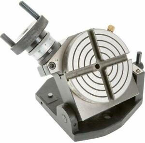 New 4 Inches 100 Mm Tilting Rotary Table 4 Slots For Milling Metalworking
