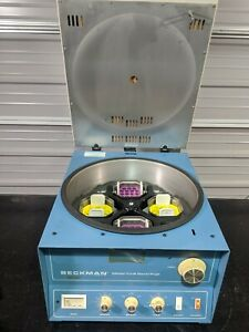 Beckman Tj 6 Tabletop Centrifuge With Th 4 Swing Bucket Rotor Fully Tested