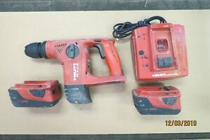 Hilti Te4 a18 Cordless Rotary Hammer Drill Batteries Charger