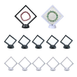 10pcs Jewelry Display Frame Holders W Stands For Bracelets Earrings Coins