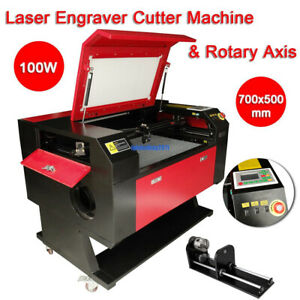 Used 100w Co2 Laser Engraver Cutter Machine Electric Lifting Rotary Axis