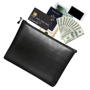 Fireproof Document Bags Waterproof File Tablet Cash For A4 Document Holder