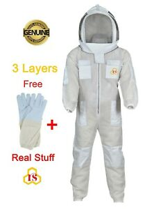 Medium Beekeeper Gear Ultra Vented 3 Layers Mesh Suit Vivo Protective Hat M m