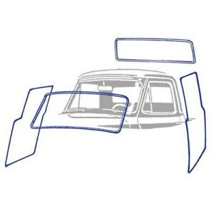 1951 1952 Ford Pickup Truck Cab Weatherstrip Kit Without Chrome Groove