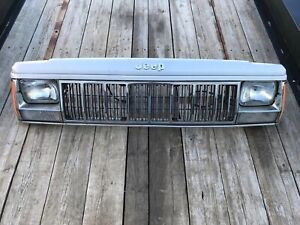 1987 1990 Jeep Cherokee Xj Comanche Mj Factory Silver Chrome Front Header Panel